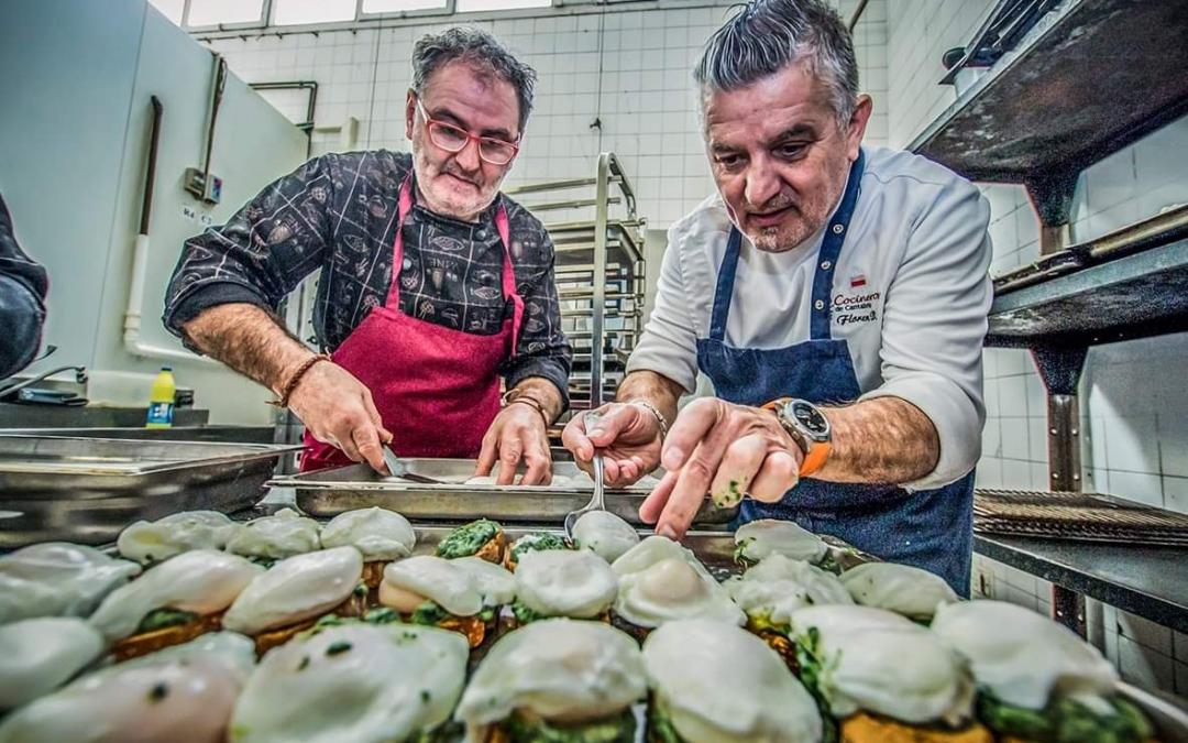 Solidaridad de los cocineros y camareros cántabros con las riadas de Campoo
