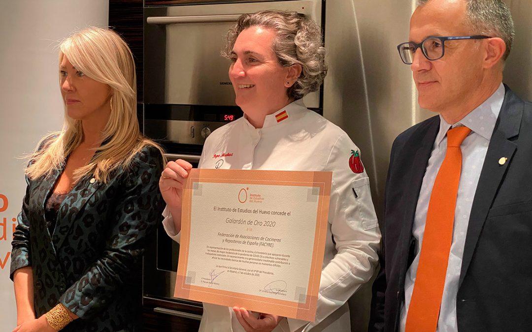 FACYRE, premiada con el Galardón de Oro por su apoyo a la hostelería